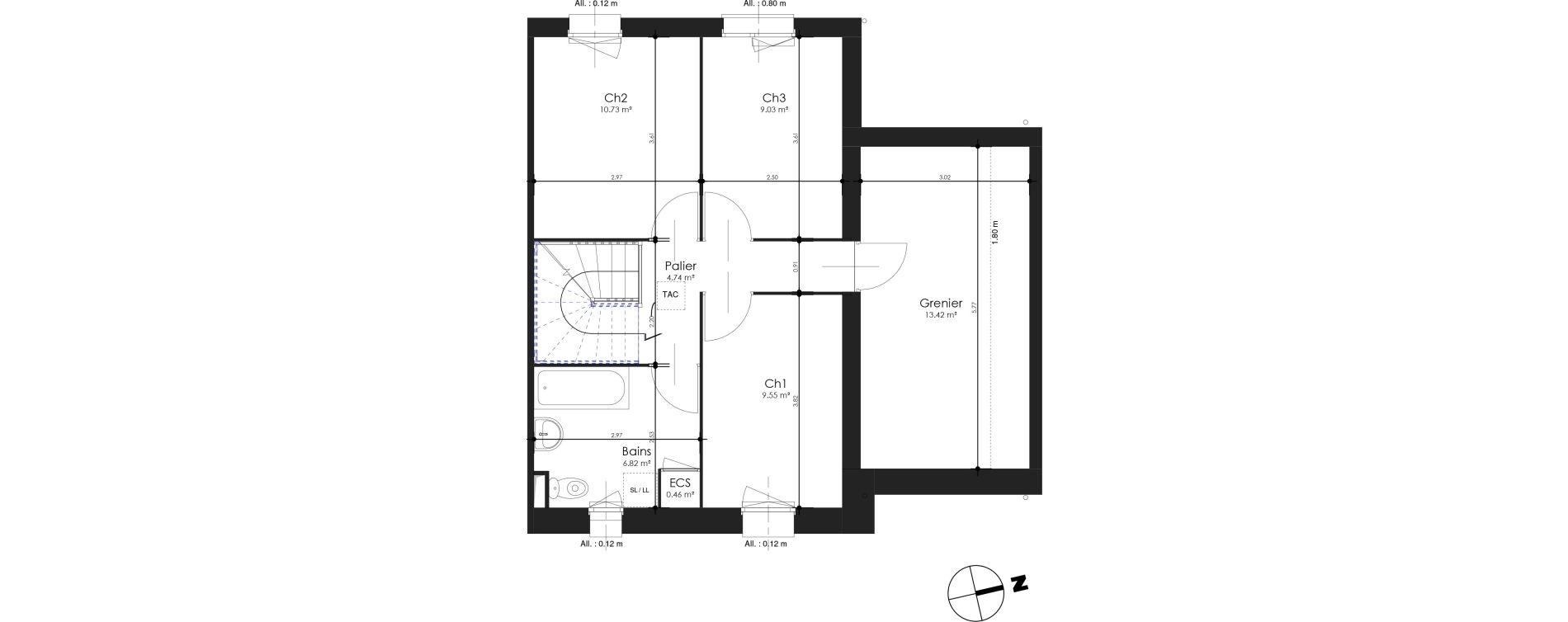 Maison T4 bis de 94,82 m2 à Estaires Centre