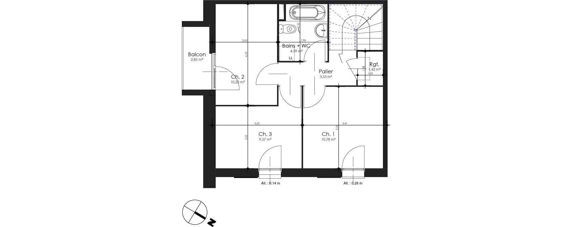 Villa T4 de 79,93 m2 à Estaires Centre