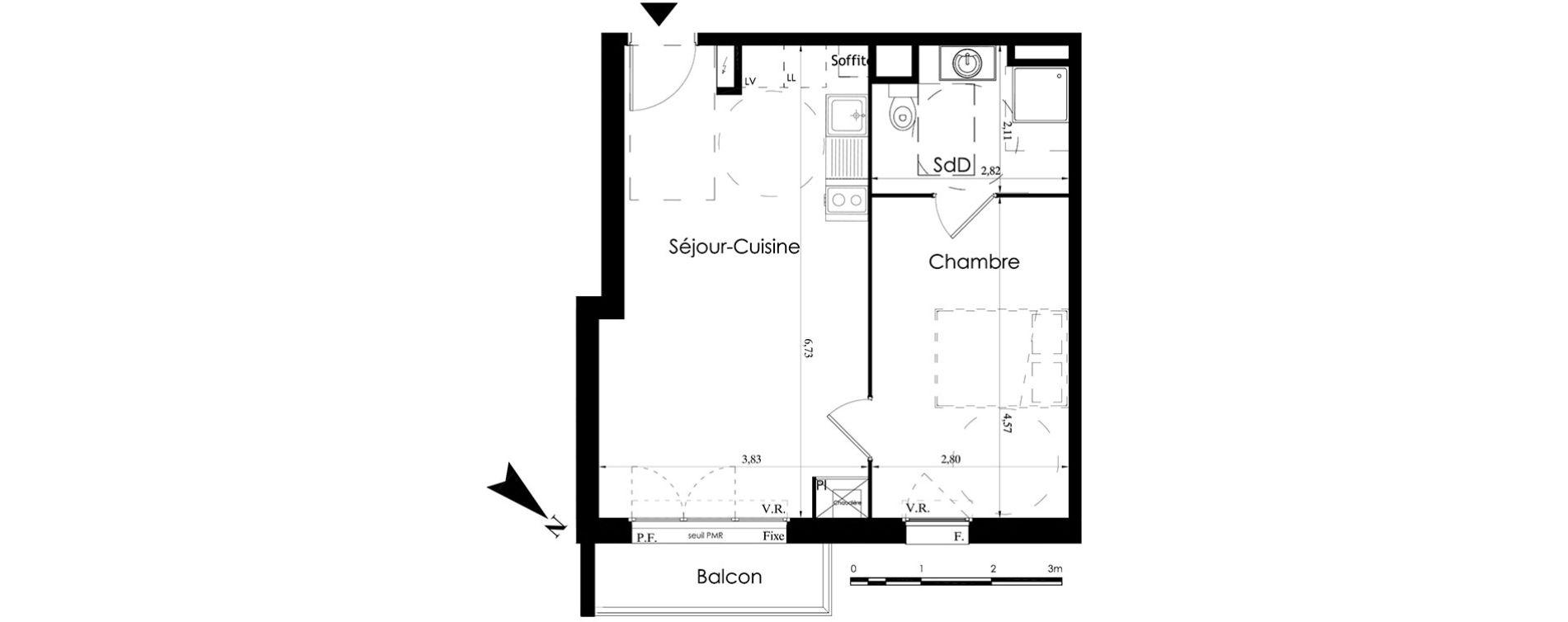 plan appartement pmr