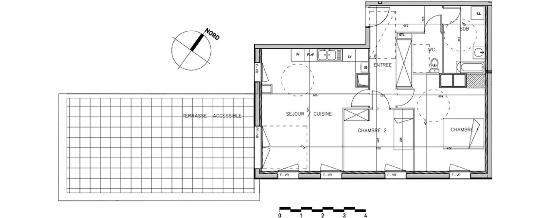 plan appartement vr