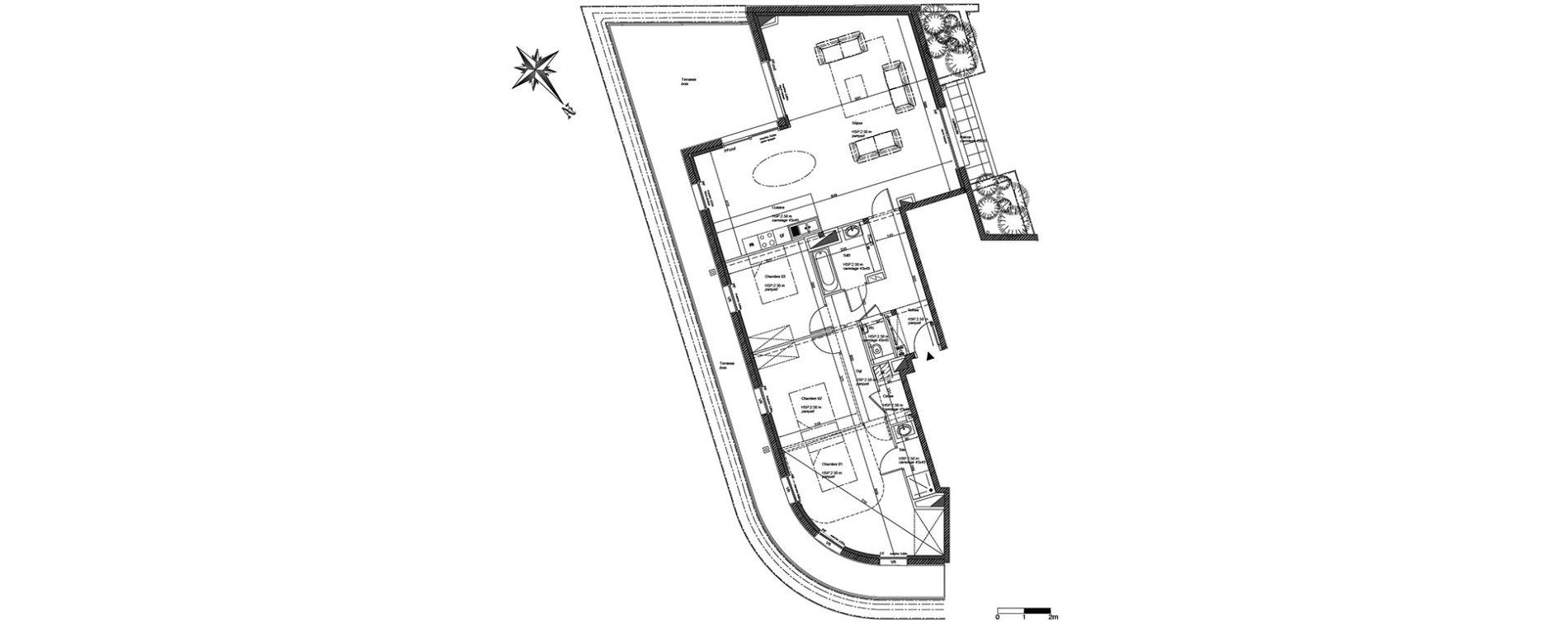 Appartement T4 de 124,80 m2 à La Madeleine Centre