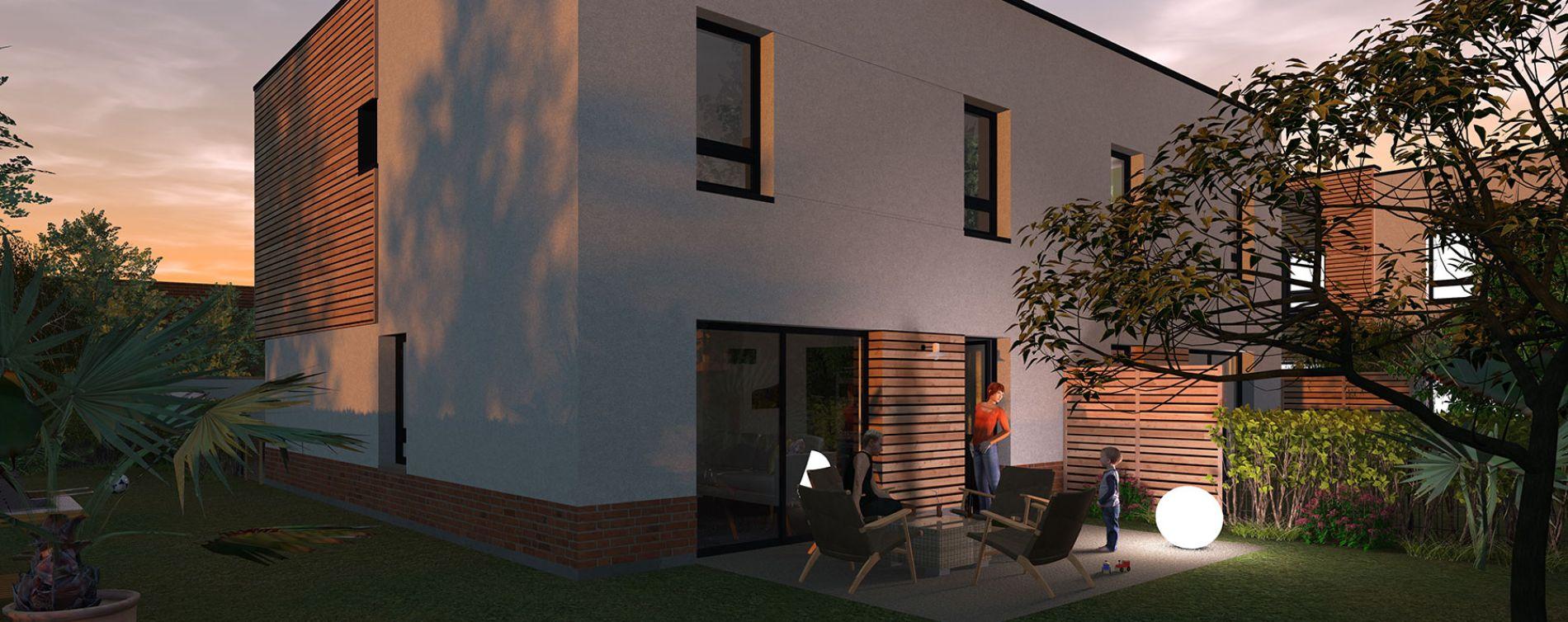 La Madeleine : programme immobilier neuve « Le Square Léon » en Loi Pinel (2)