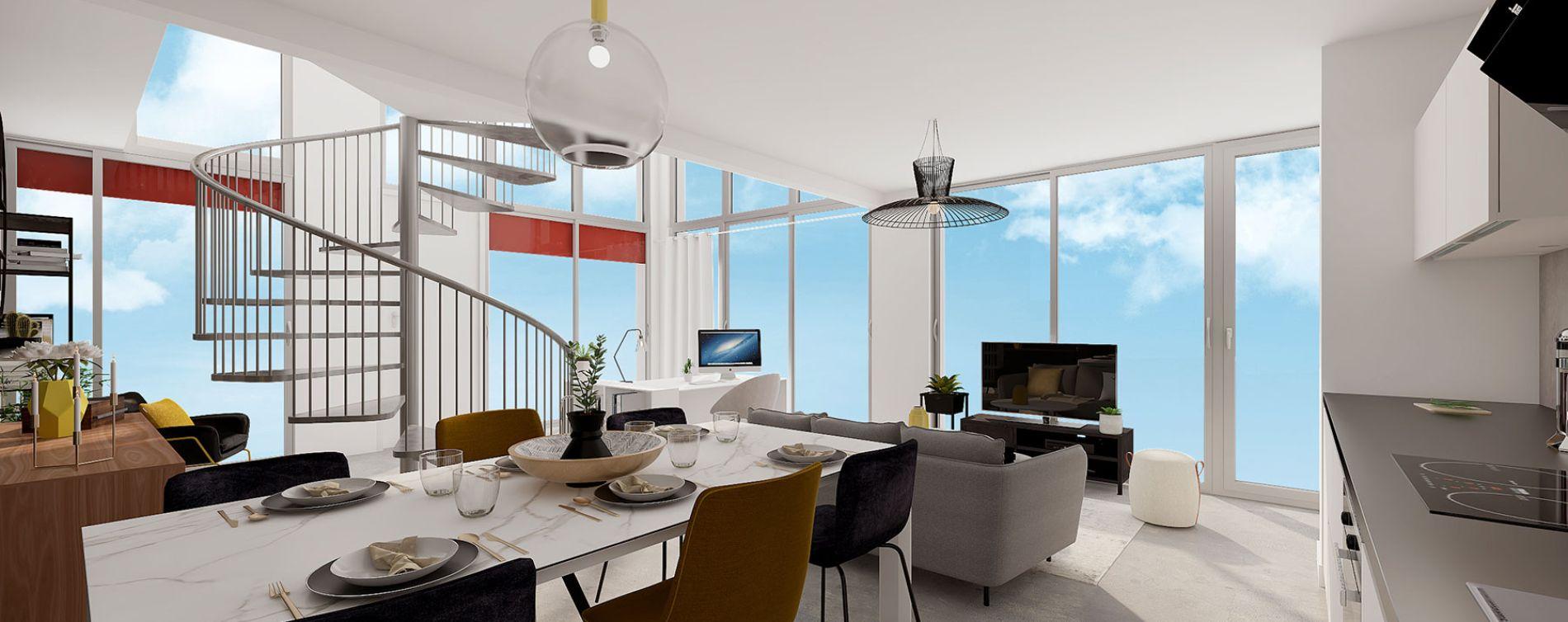 Lille : programme immobilier neuve « Ekko » en Loi Pinel (4)