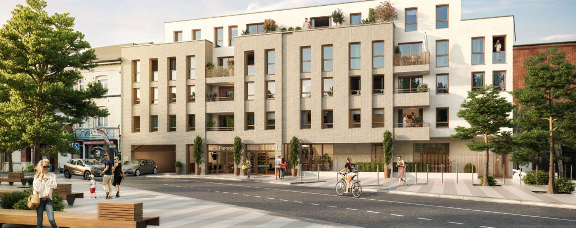 Lille : programme immobilier neuve « Filbert » en Loi Pinel