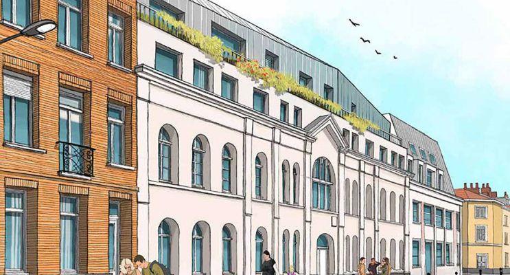 Photo n°1 du Résidence « Le Cloître » programme immobilier à rénover en Loi Pinel ancien à Lille