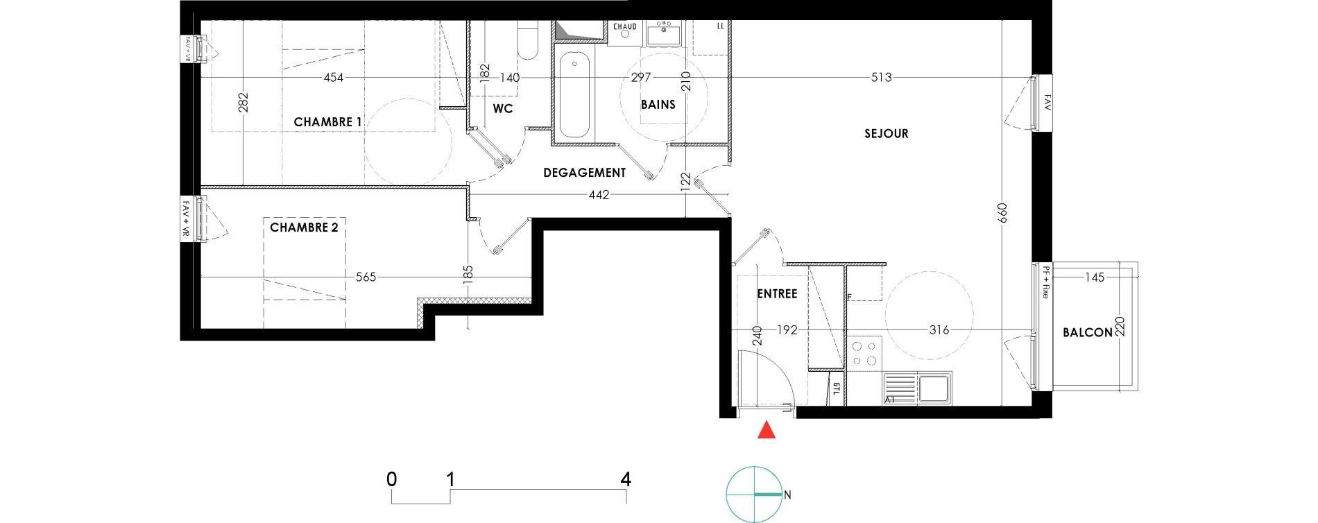 Appartement T3 de 72,20 m2 à Lille Wazemmes