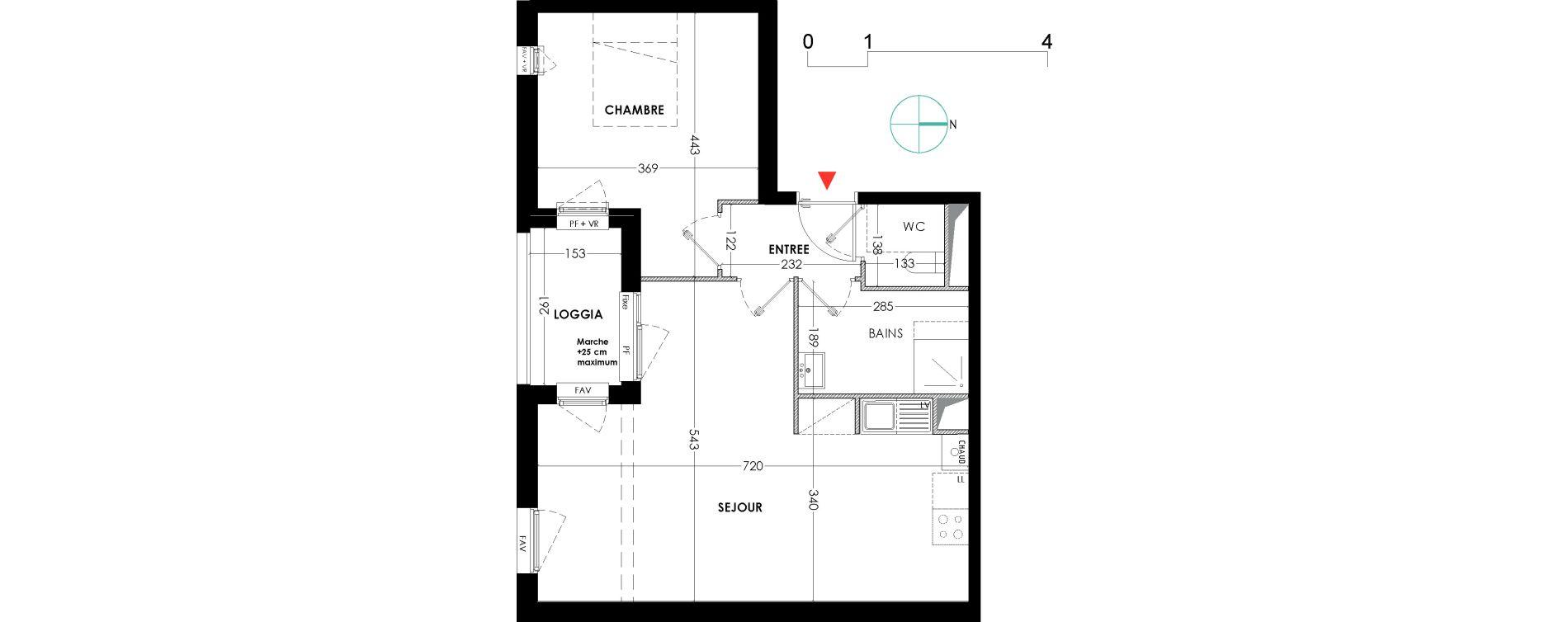 Appartement T2 de 51,90 m2 à Lille Wazemmes