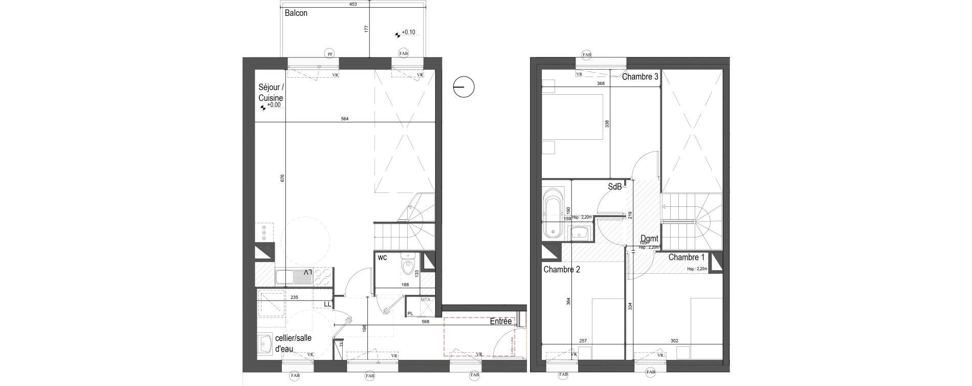 Duplex T4 de 90,08 m2 à Lille Lille sud