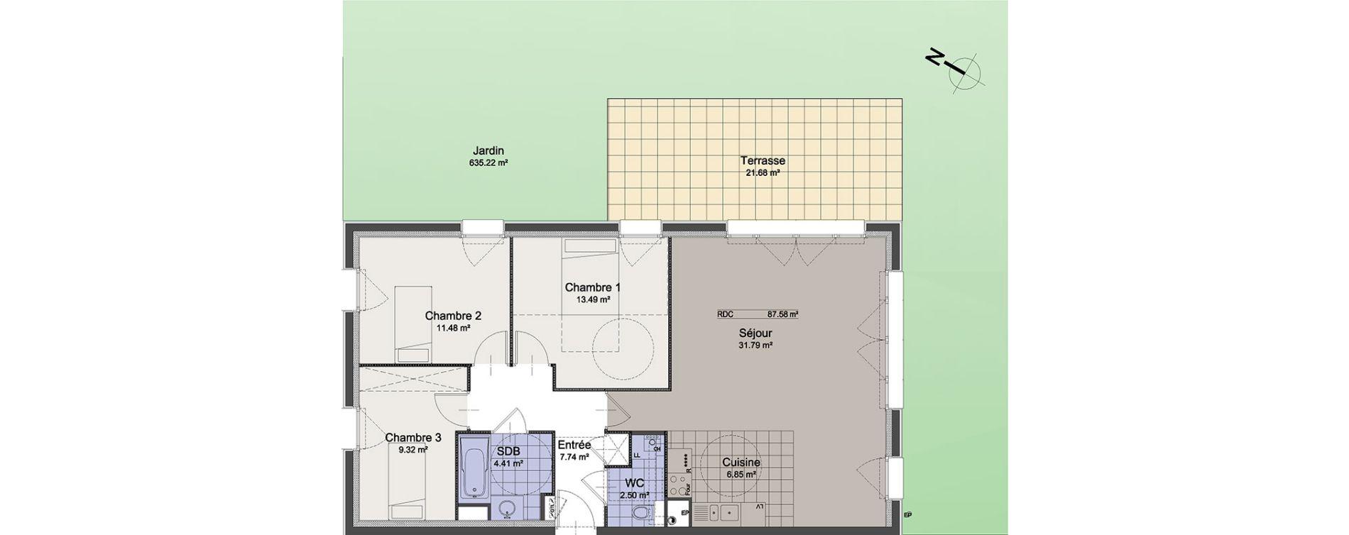 Appartement T4 de 87,58 m2 à Linselles Centre