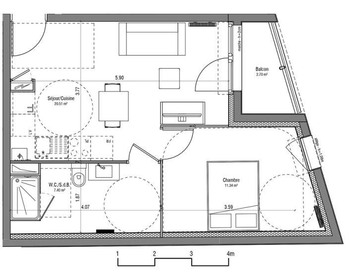 Plan T2 neuf à Loos de