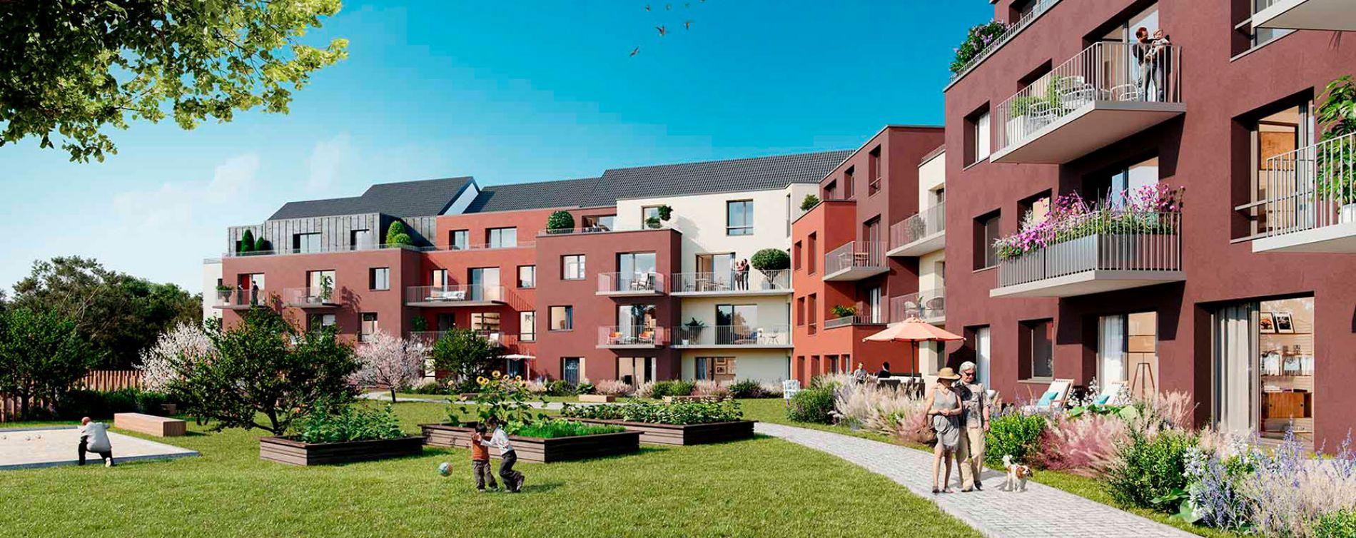 Lys-lez-Lannoy : programme immobilier neuve « Le Vert Pré »