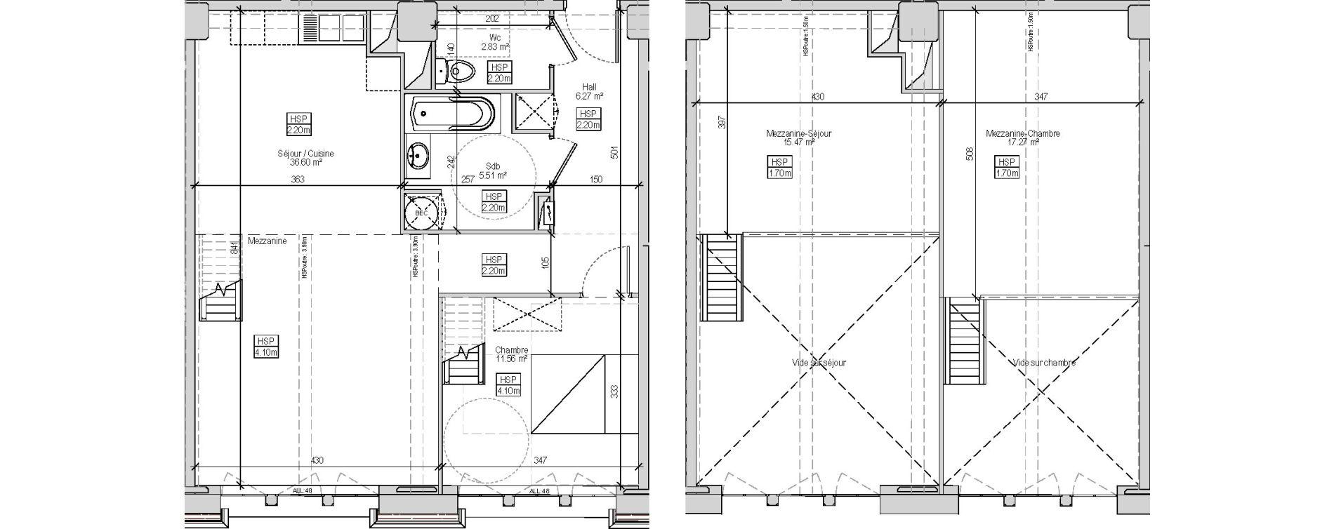 Appartement T2 de 62,77 m2 à Marquette-Lez-Lille Centre