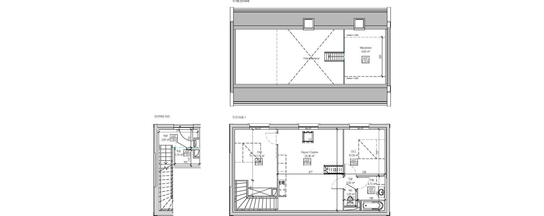 Appartement T3 de 72,91 m2 à Marquette-Lez-Lille Centre