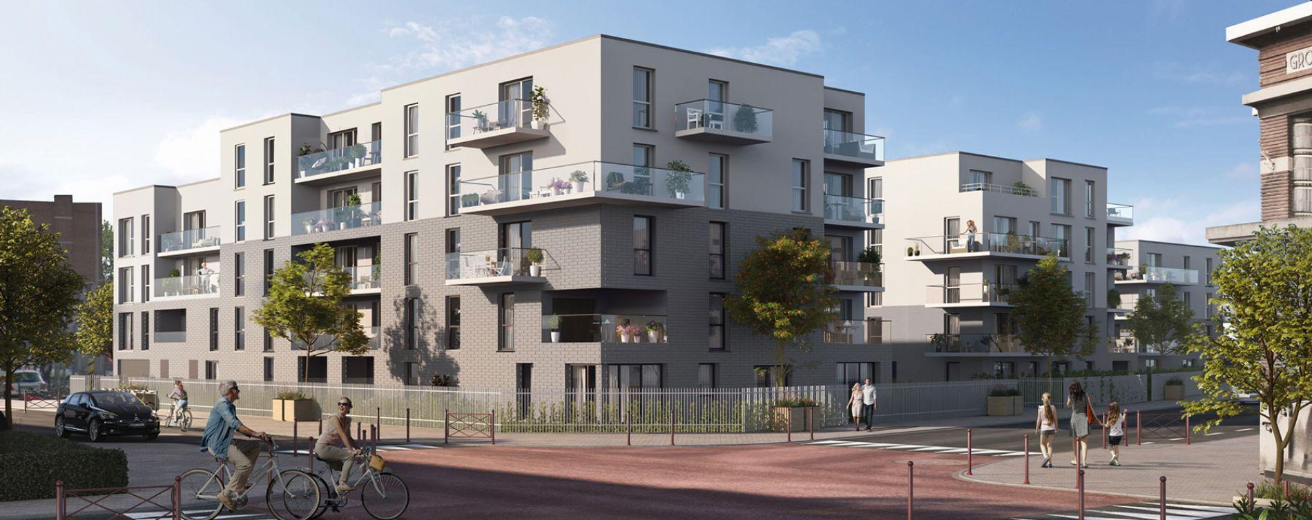 Mons-en-Barœul : programme immobilier neuve « Axiome » en Loi Pinel