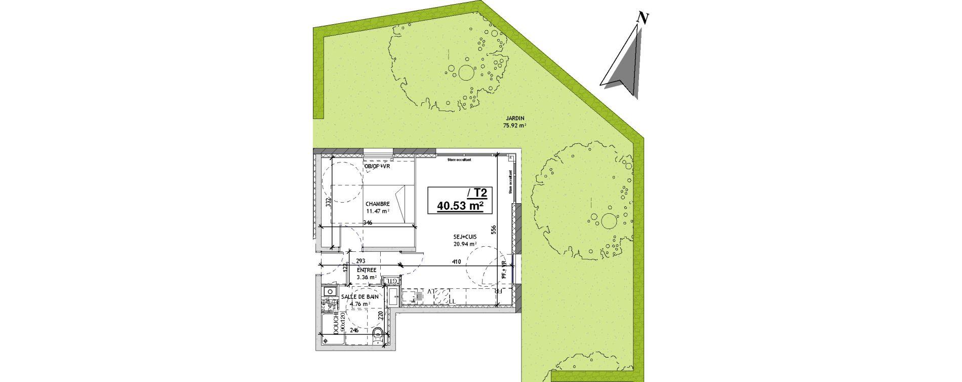 Appartement T2 de 40,53 m2 à Mons-En-Barœul Centre