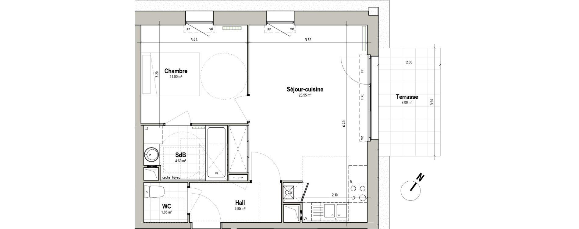 Appartement T2 de 44,85 m2 à Pérenchies Centre