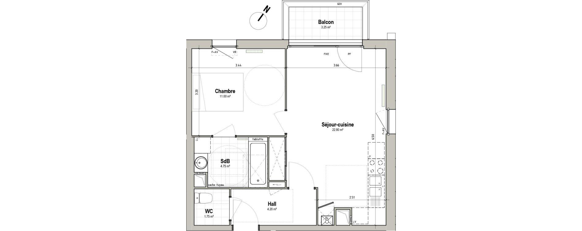 Appartement T2 de 44,50 m2 à Pérenchies Centre