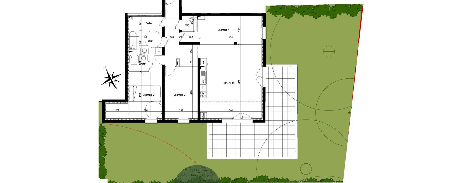 Appartement T4 de 106,22 m2 à Quesnoy-Sur-Deûle Centre