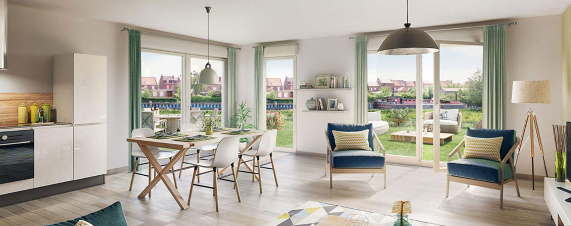 Quesnoy-sur-Deûle : programme immobilier neuve « Rive & Sens » en Loi Pinel