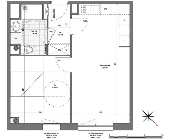 Plan T2 neuf à Roubaix de