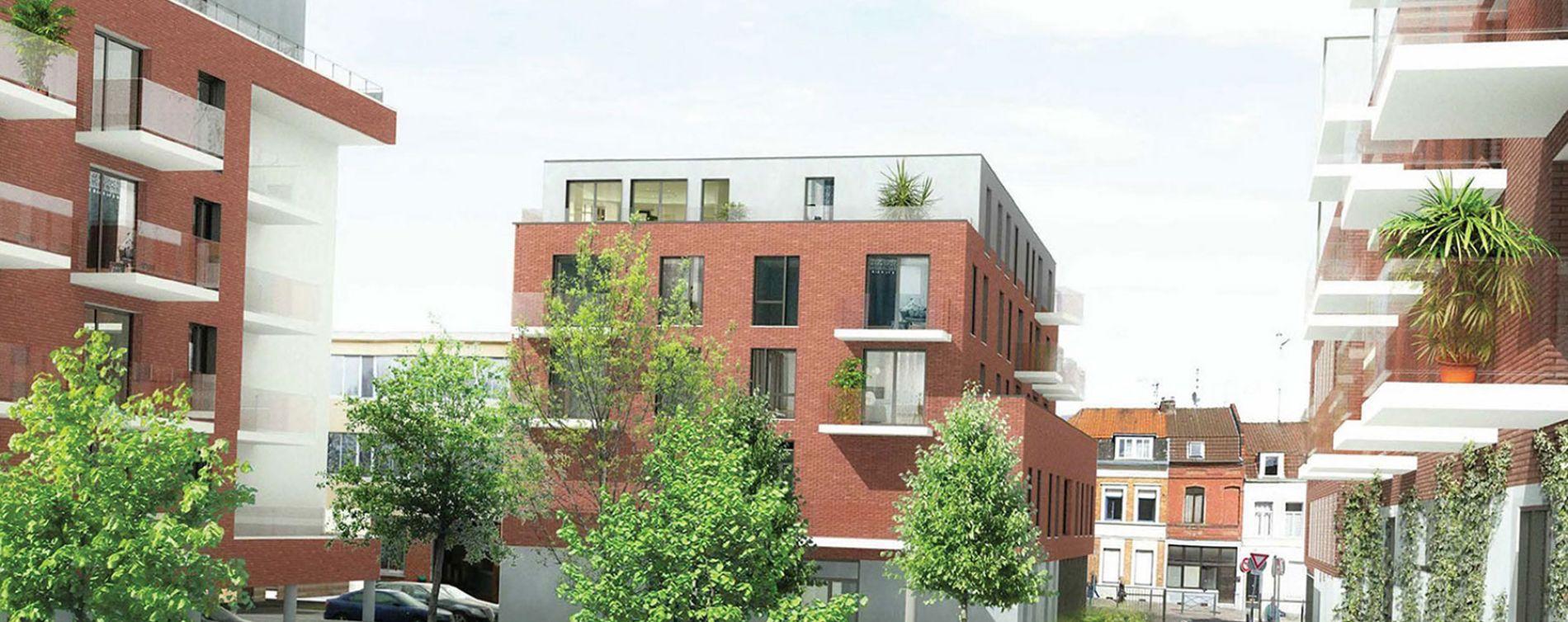 Roubaix : programme immobilier neuve « Parc Vauban » en Loi Pinel