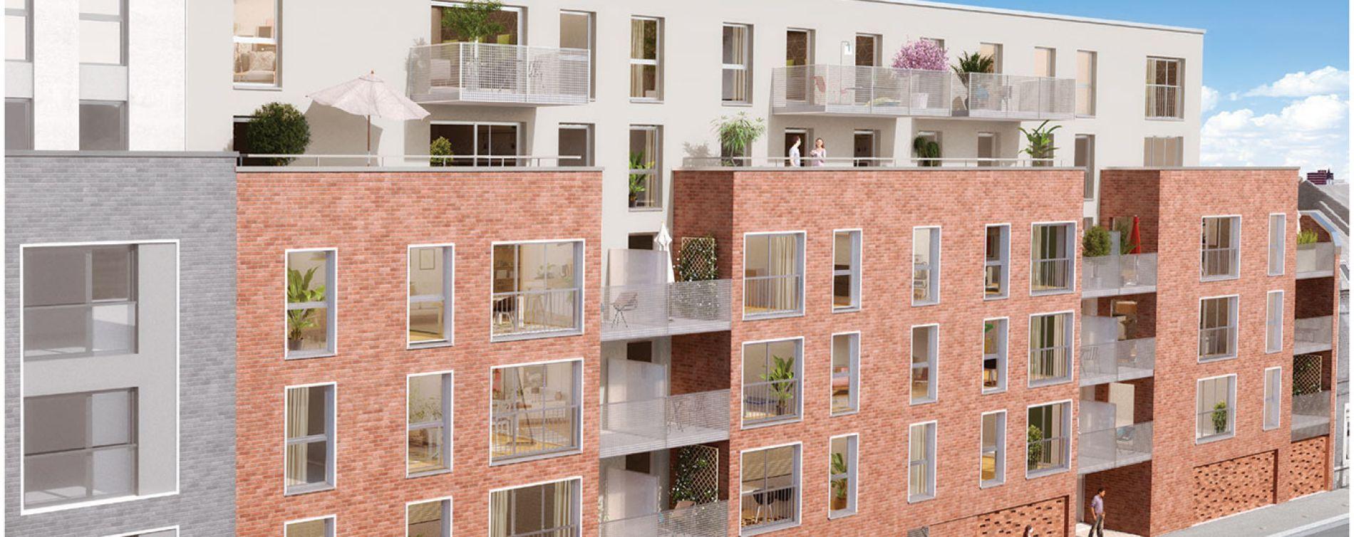 Roubaix : programme immobilier neuve « Pixel 2 » en Loi Pinel