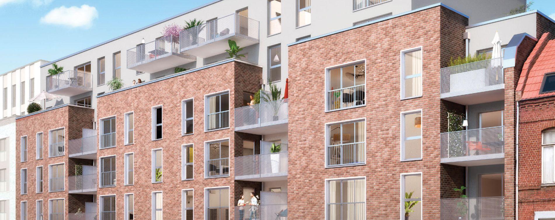 Roubaix : programme immobilier neuve « Pixel 2 » en Loi Pinel (2)