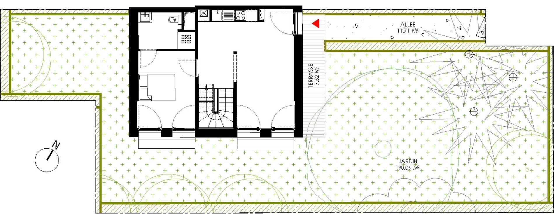 Duplex T5 de 86,83 m2 à Saint-André-Lez-Lille Centre