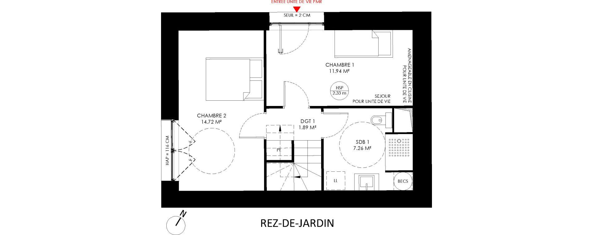 Triplex T4 de 92,90 m2 à Saint-André-Lez-Lille Centre