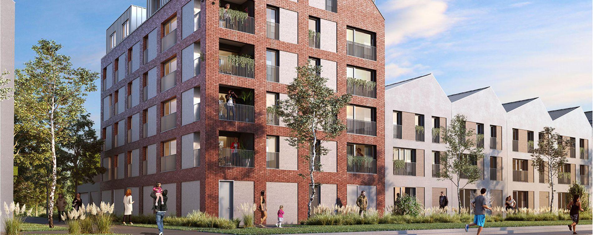 Saint-André-lez-Lille : programme immobilier neuve « Quai des Mariniers » en Loi Pinel