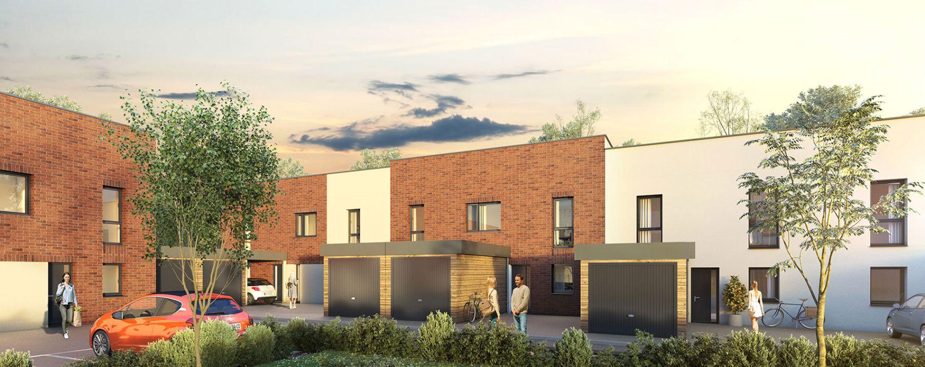 Tourcoing : programme immobilier neuve « Urban T - Maisons »