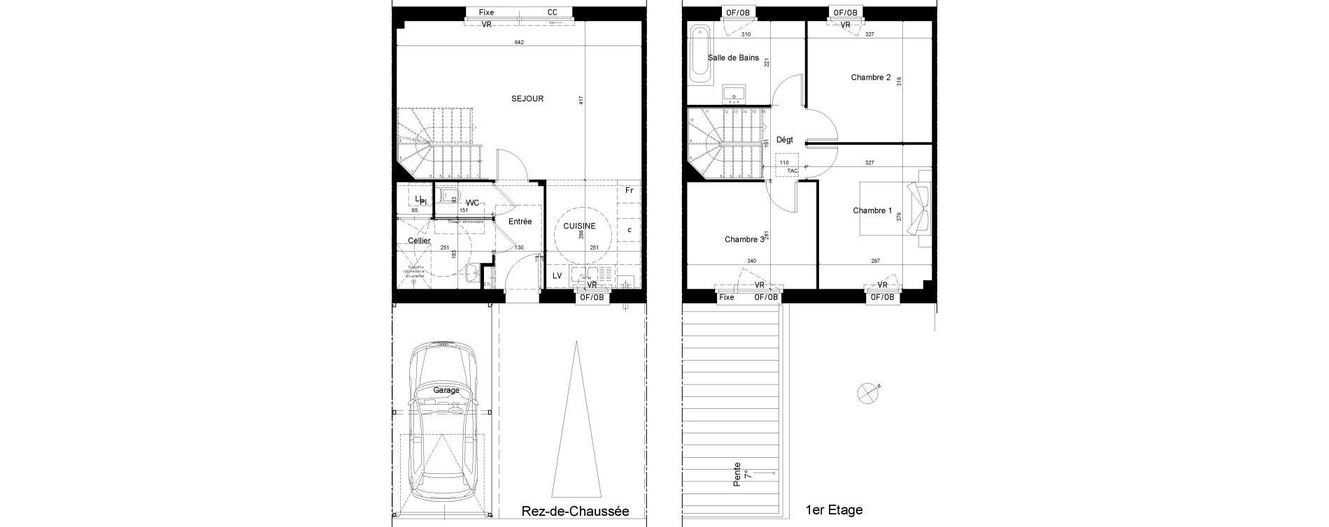 Maison T4 de 82,35 m2 à Tourcoing Les phalempins