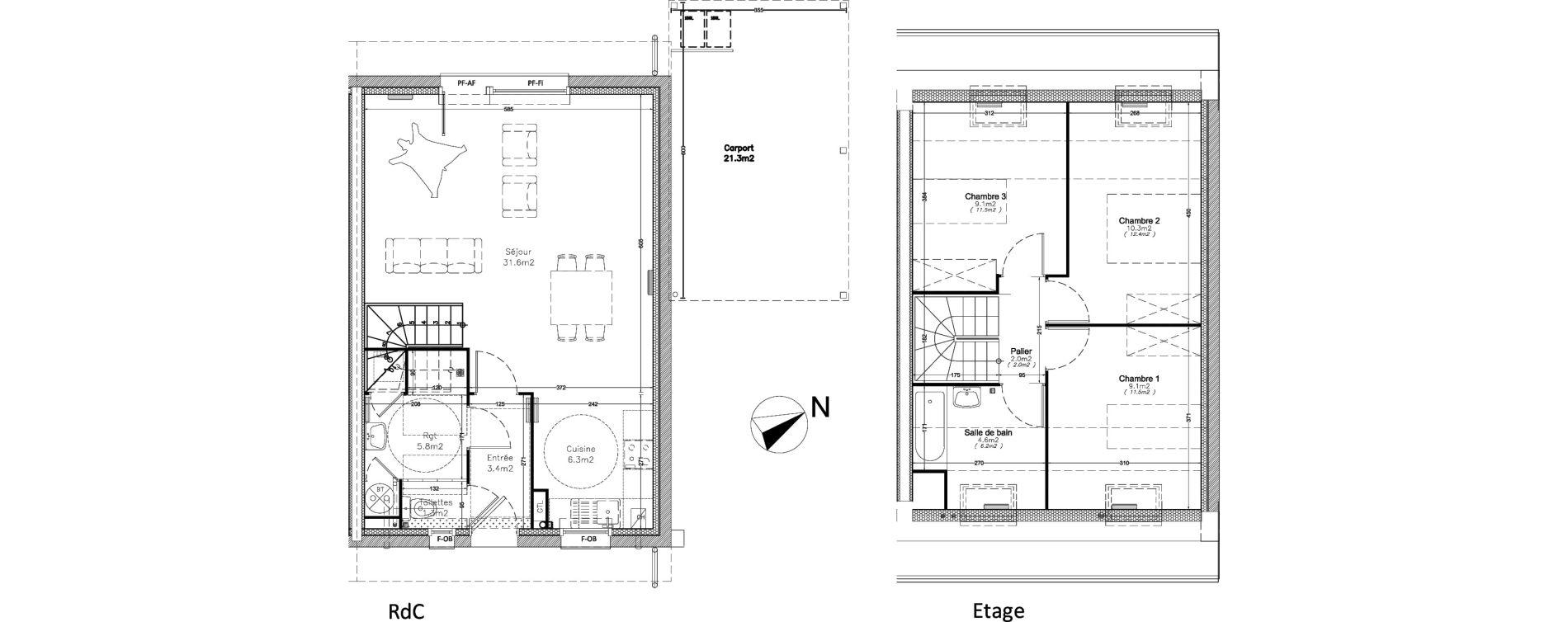 Maison T4 De 83 50 M2 1er Etage O Ecrin De Ville Maisons Valenciennes Ref 437
