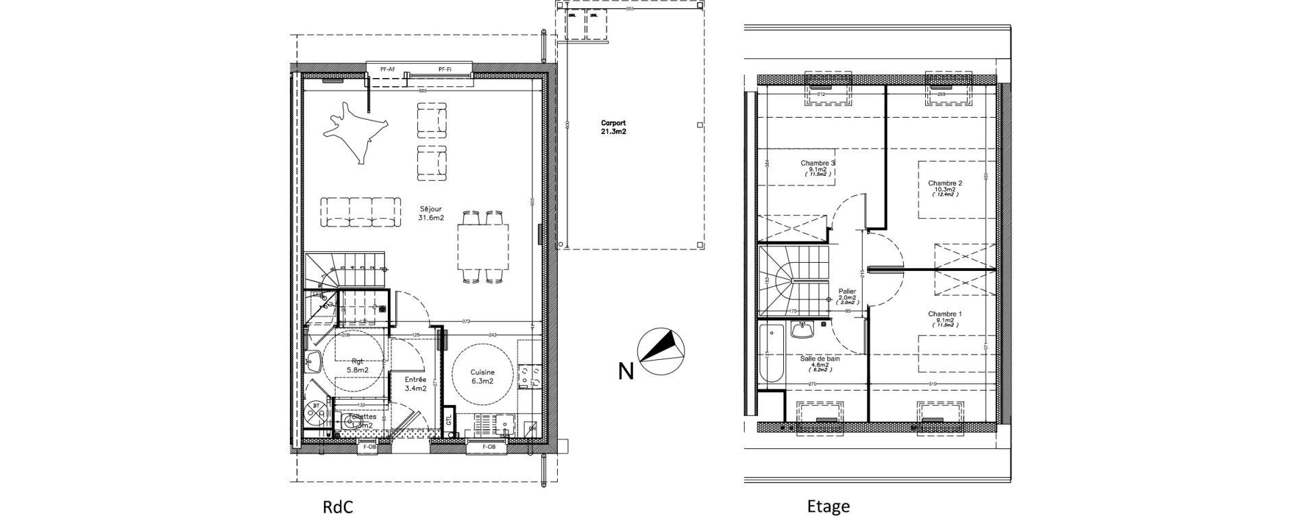 Maison T4 de 83,50 m2 à Valenciennes Centre