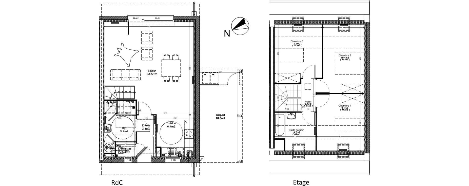 Maison T4 de 83,40 m2 à Valenciennes Centre