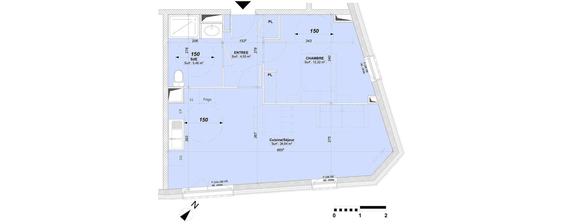Plan T2 neuf à Valenciennes de