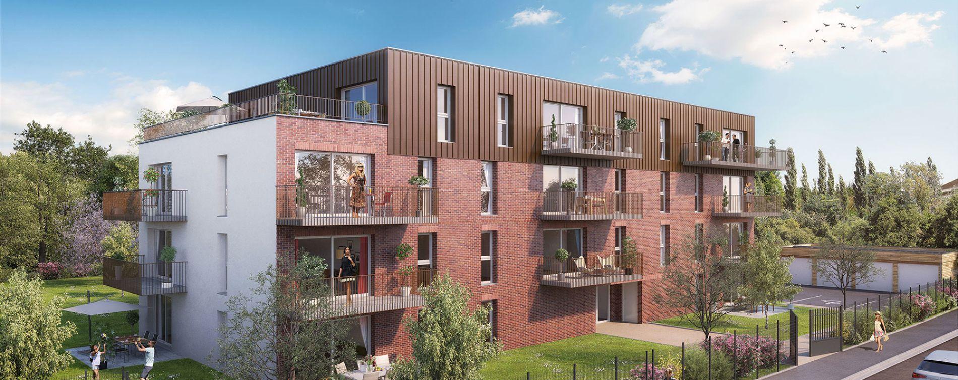 Valenciennes : programme immobilier neuve « Le Birdie »