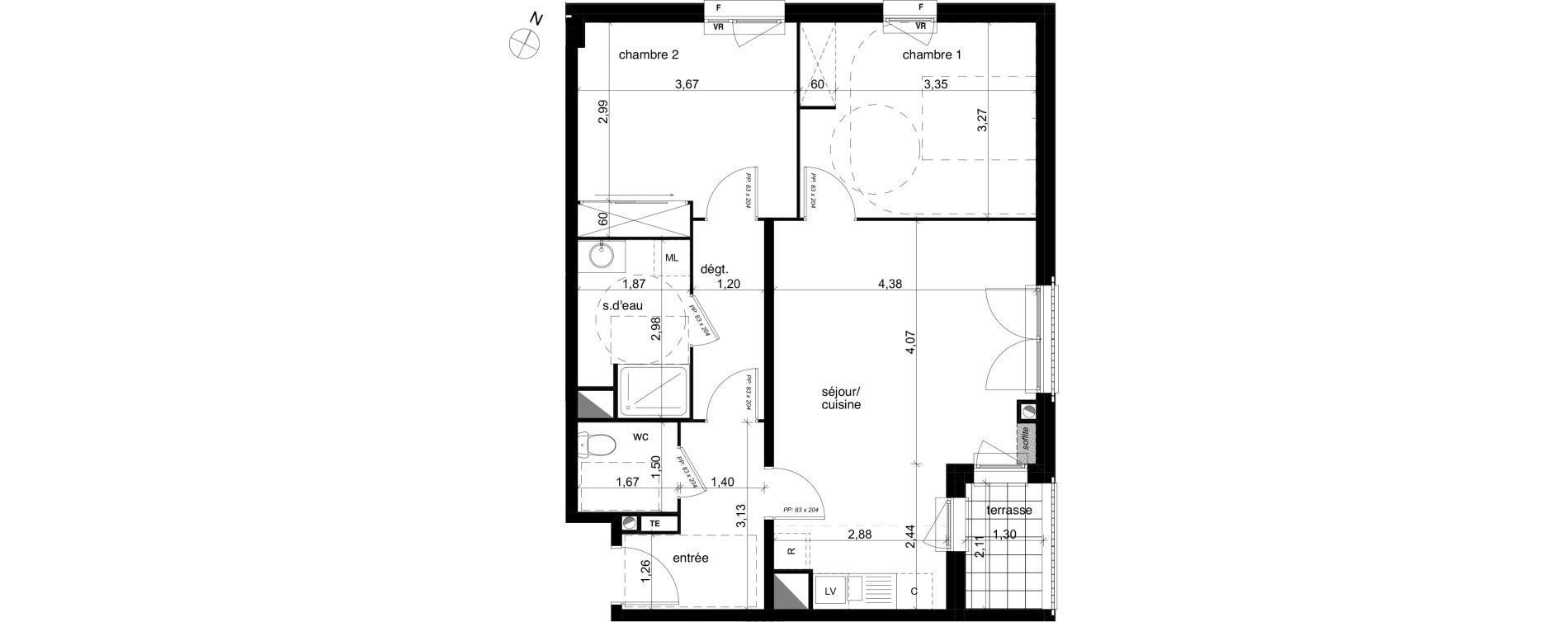 Appartement T3 de 66,88 m2 à Compiègne Centre