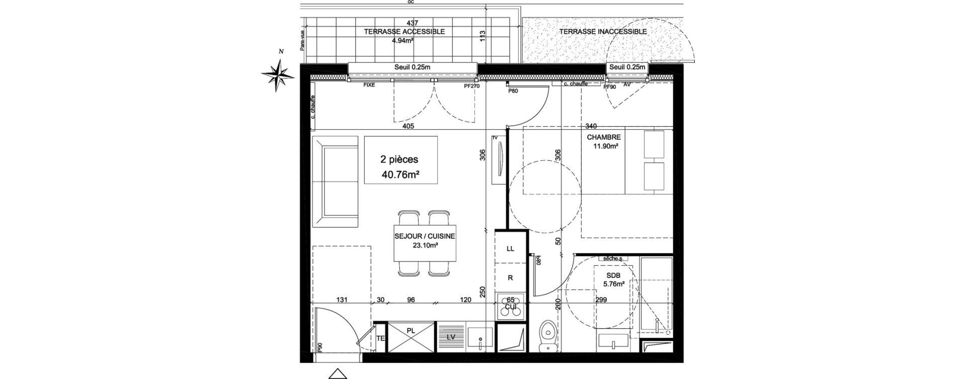 Appartement T2 de 40,76 m2 à Creil Centre