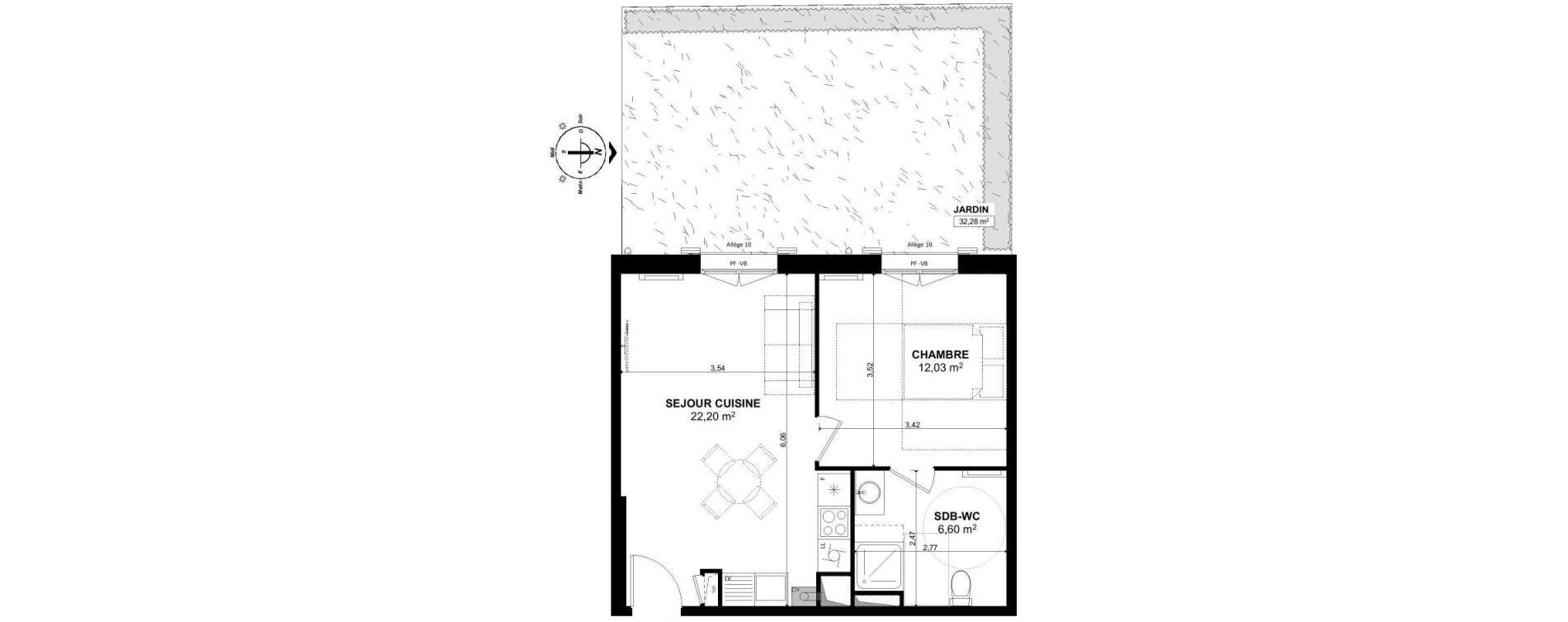 Appartement T2 de 40,83 m2 à Pont-Sainte-Maxence Pont ste maxence