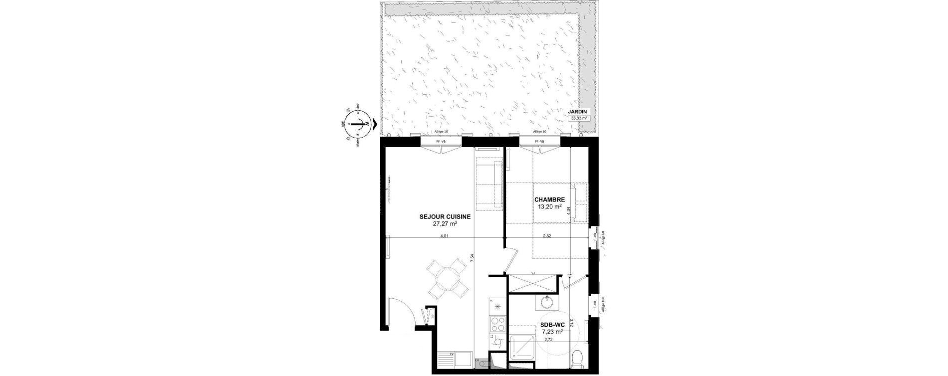 Appartement T2 de 47,70 m2 à Pont-Sainte-Maxence Pont ste maxence