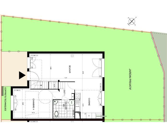 Plan T5 neuf à Saint-Maximin de