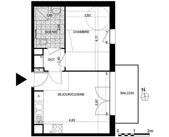 Appartement t2 saint maximin n 143 est for Achat maison val d oise