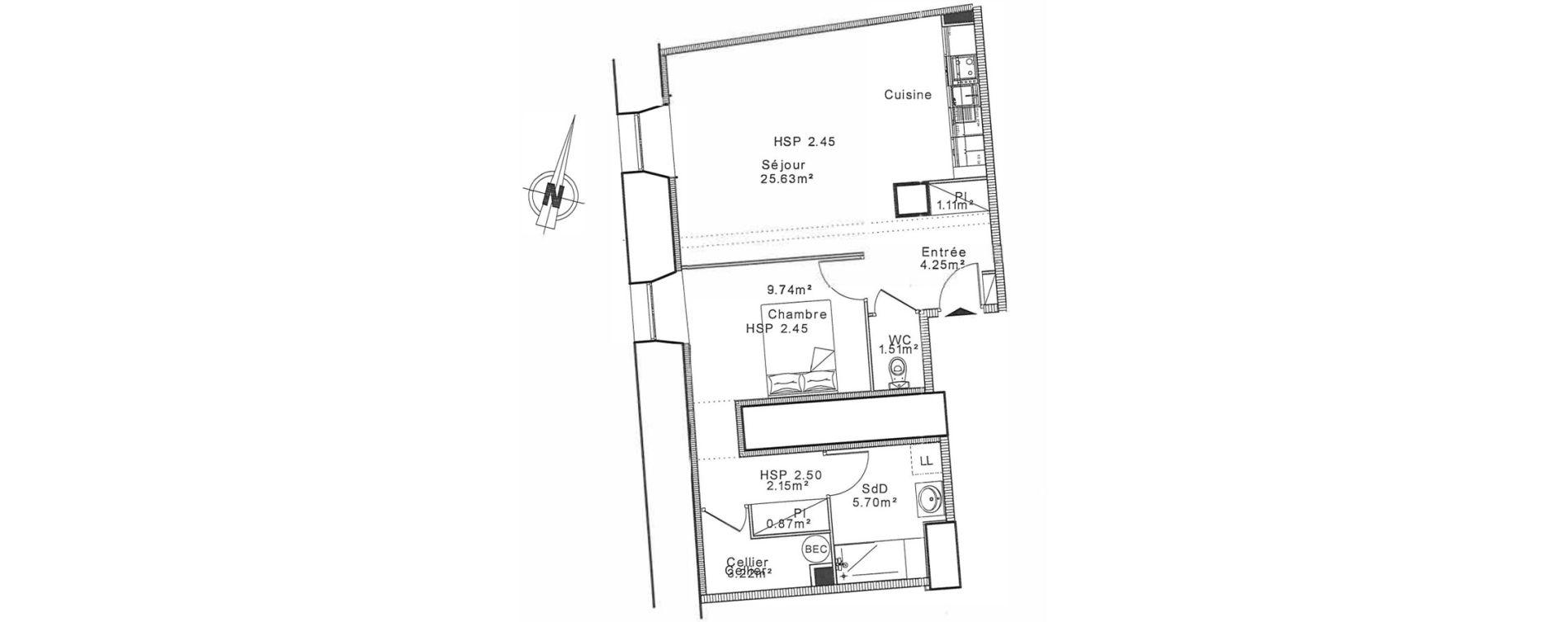 Appartement T2 de 51,95 m2 à Senlis Centre