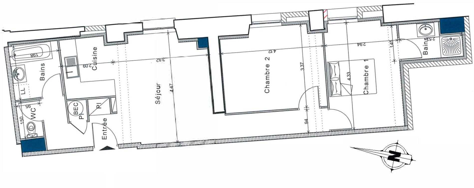 Appartement T3 de 65,35 m2 à Senlis Centre