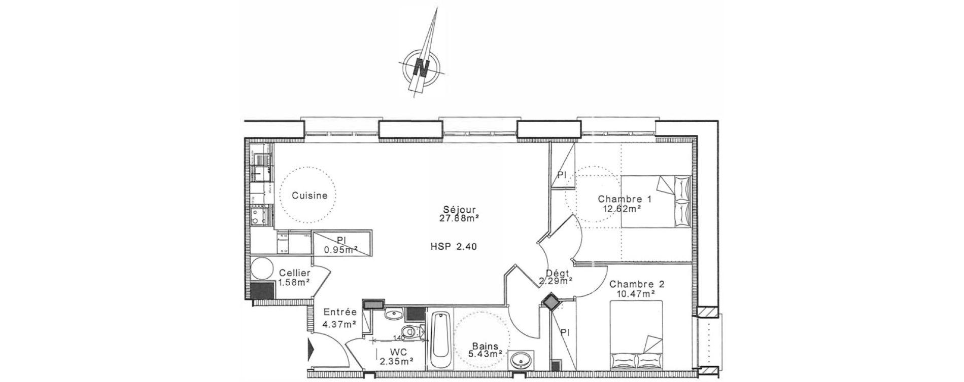 Appartement T3 de 66,60 m2 à Senlis Centre