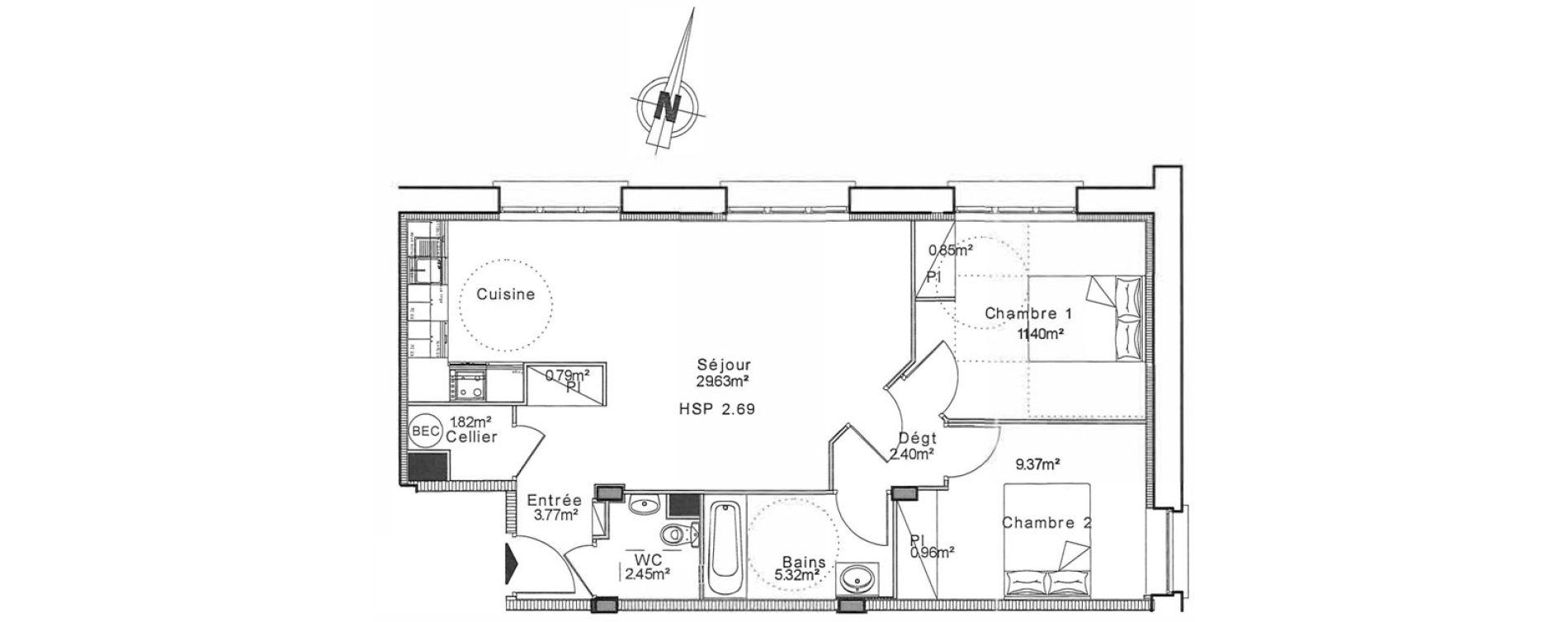 Appartement T3 de 68,05 m2 à Senlis Centre