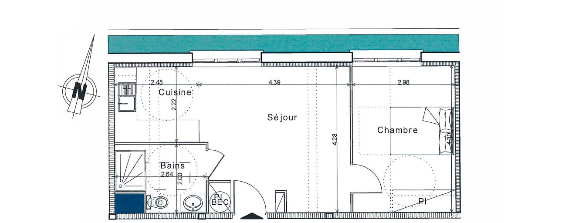 Appartement T2 de 40,80 m2 à Senlis Centre