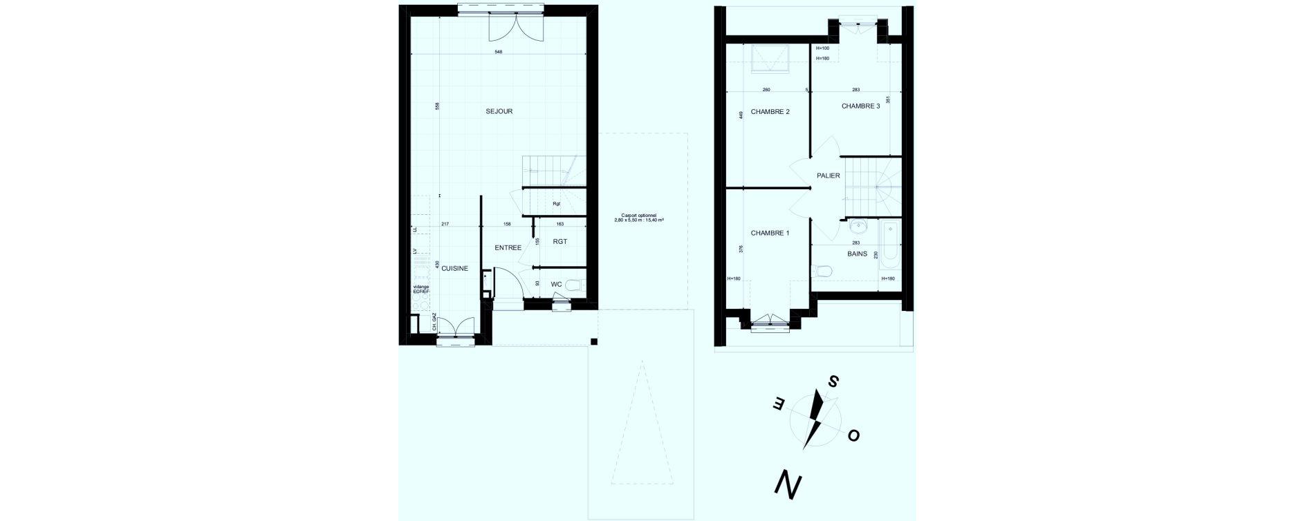 Maison T4 de 82,04 m2 à Brebières Centre
