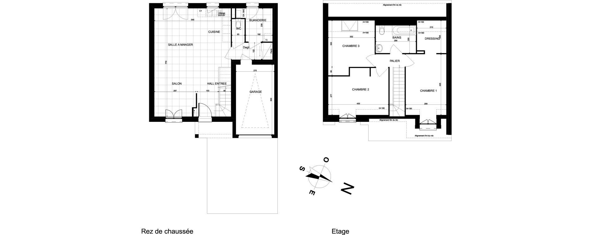 Maison T4 de 93,67 m2 à Brebières Centre